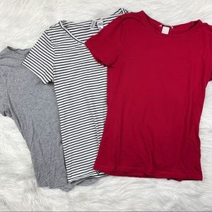 3 FOR $15! H&M Bundle 3 Basic Tees
